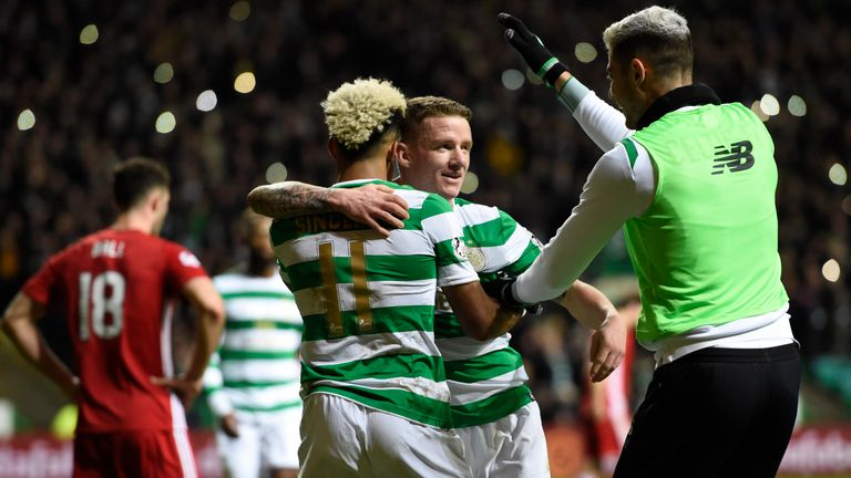 Jonny Hayes doubles the Hoops' lead at Parkhead