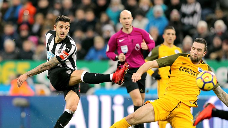 Brighton held Newcastle to a goalless draw at St James' Park on Saturday