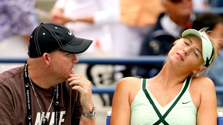Michael Joyce previously helped Maria Sharapova to two Grand Slam titles