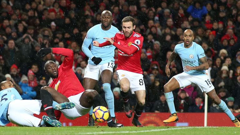 Mata was a second-half substitute in the Manchester derby