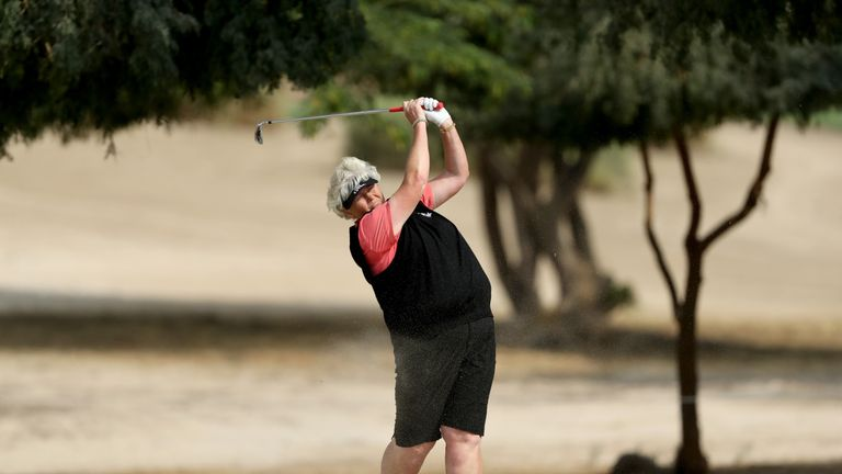 Dame Laura Davies is the first woman to play on the Staysure Tour