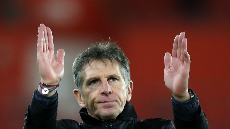 Claude Puel is hoping for an upset against Man City on Saturday