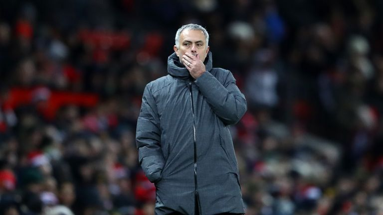 Jose Mourinho saw his United side lose 2-1 in the Manchester derby