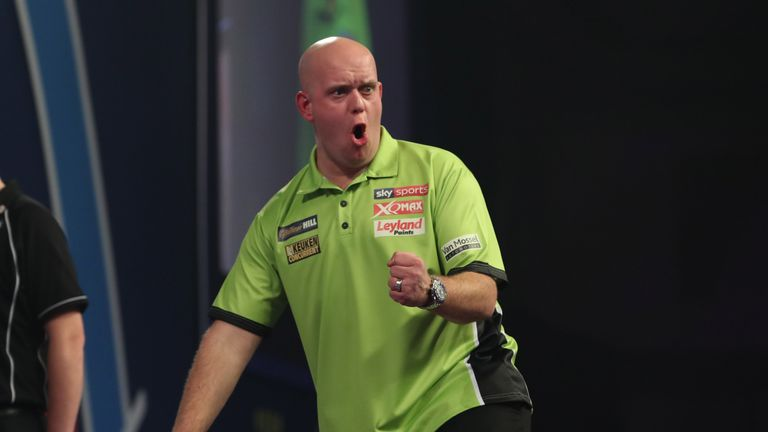 Van Gerwen had his moments but missed 58 darts at double throughout the contest