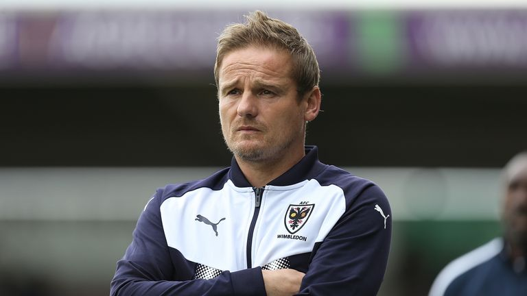 Neal Ardley's AFC Wimbledon will be looking for an upset at Wembley