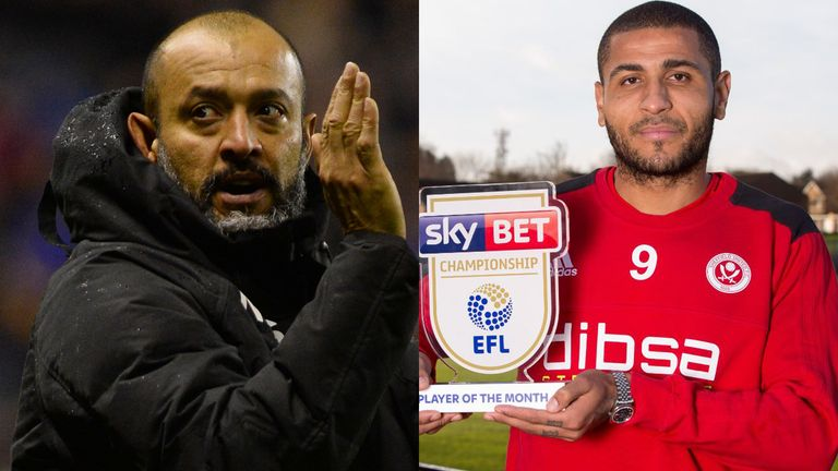 Wolves manager Nuno and Sheffield United striker Leon Clarke have won the Sky Bet Championship monthly awards for November