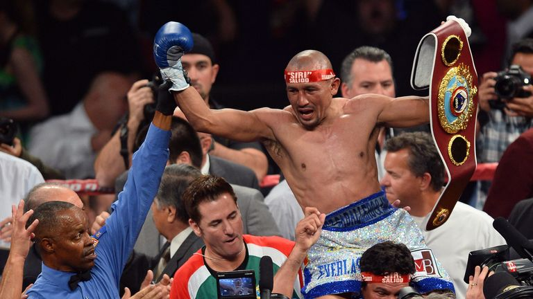 Salido beat Lomachenko in his second professional bout back in 2014