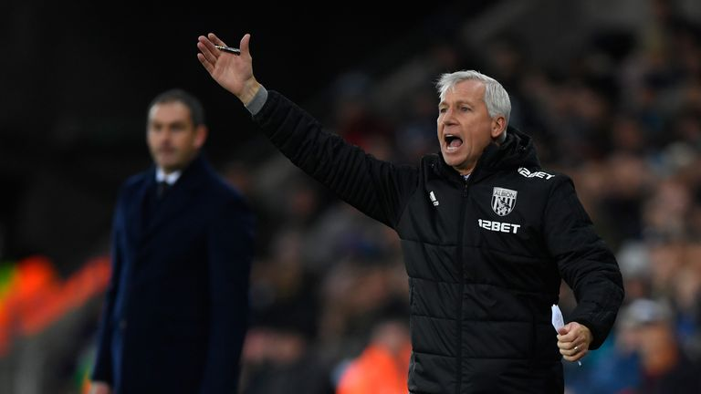 WBA manager Alan Pardew will have to stop Lukaku on Sunday