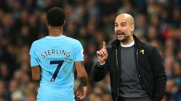 Pep Guardiola is backing Raheem Sterling to deal with the pressure of facing Liverpool at Anfield