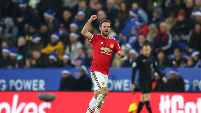 Juan Mata has dedicated Manchester United's win over Huddersfield to the Munich victims