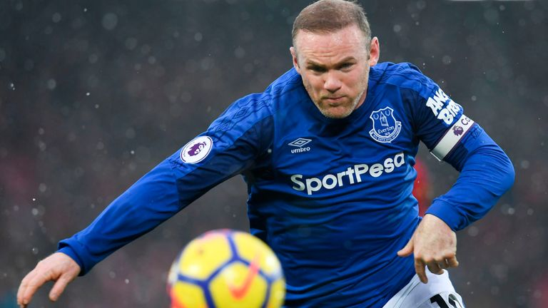Wayne Rooney in action during the Merseyside derby at Anfield last weekend.