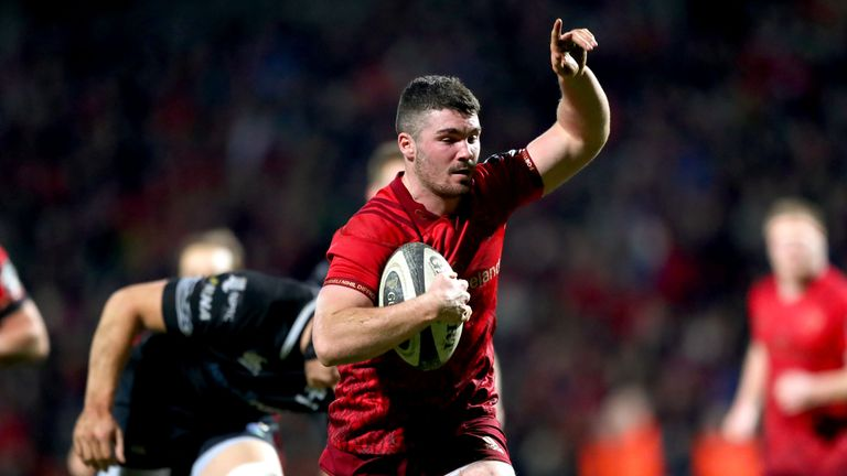Centre Sam Arnold was among the try scorers as Munster secured a bonus-point victory over the Ospreys
