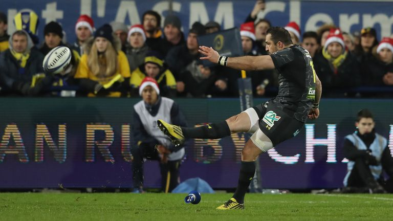 Scott Spedding's last-minute penalty secured victory for Clermont