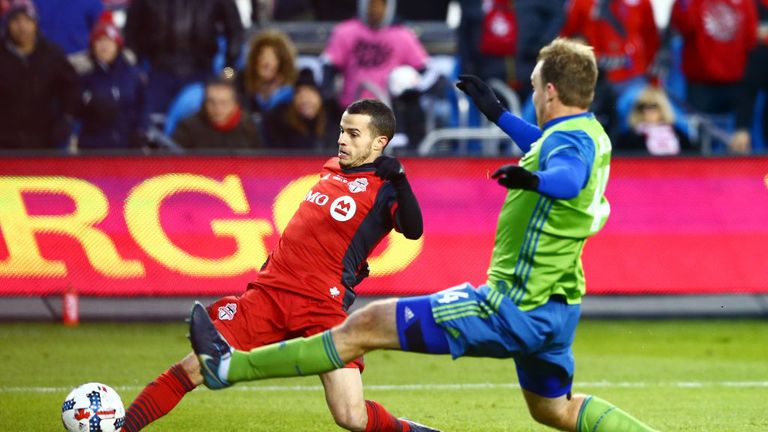 Sebastian Giovinco goes close in the first half