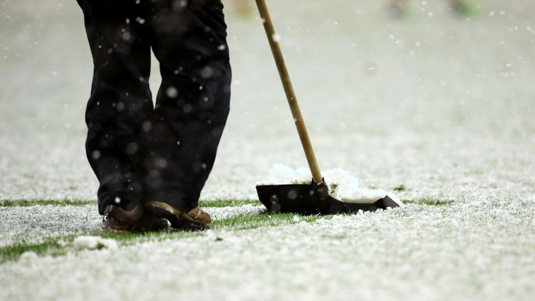 Storm Caroline has put the weekend fixtures in doubt