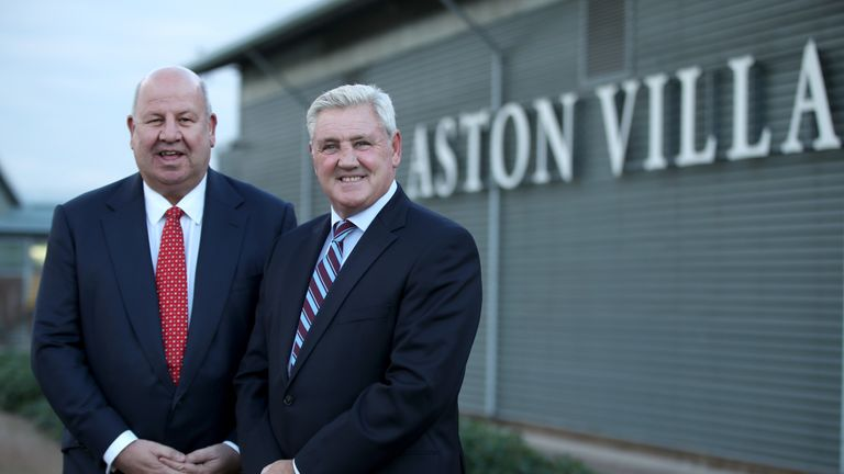 Keith Wyness (left) has been suspended by Aston Villa