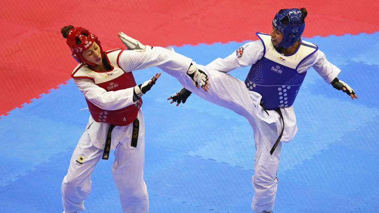 Bianca Walkden became the only Briton to successfully defend a world title in taekwondo
