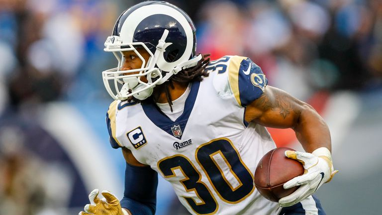 Running back Todd Gurley tallied the most touchdowns in the NFL in 2017 with 19