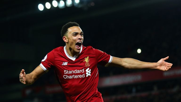 Trent Alexander-Arnold was invited to train with England on Tuesday