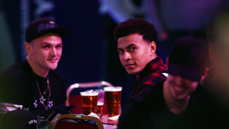 Dele Alli was also among the spectators at Alexandra Palace