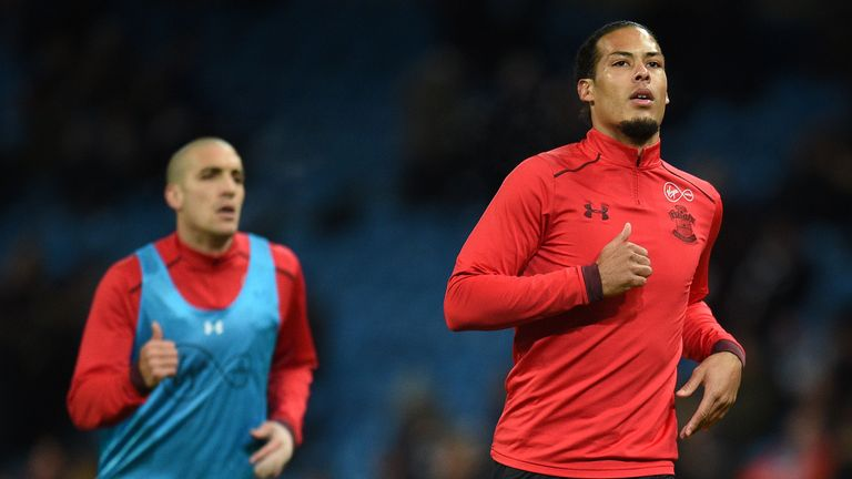 Virgil van Dijk handed in a transfer request last summer but it was turned down