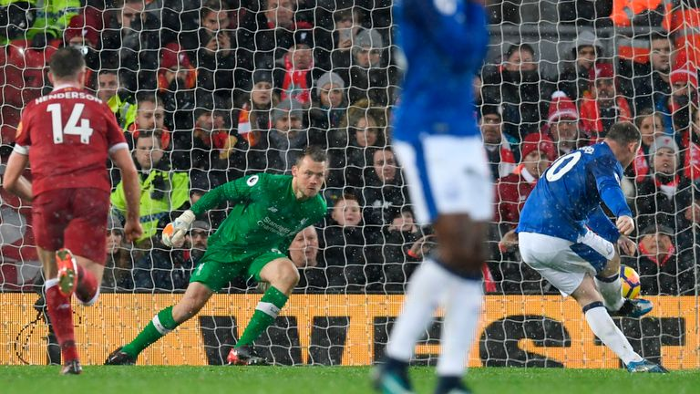 Wayne Rooney scores the equalising goal from the penalty spot