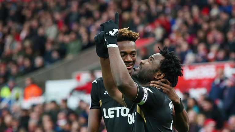 Wilfried Bony opened the scoring in the third minute