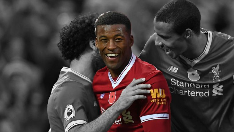 Georginio Wijnaldum will hope to score away at the 48th attempt at Swansea