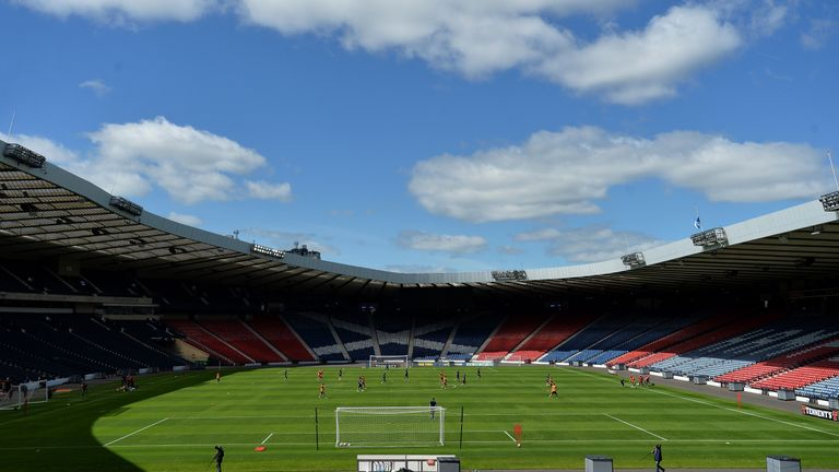 The future of international football at Hampden Park is unclear