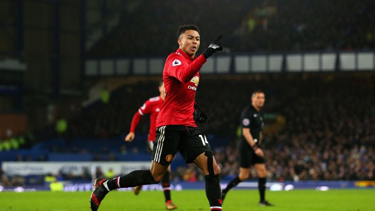 Jesse Lingard scored Manchester United's second against Everton