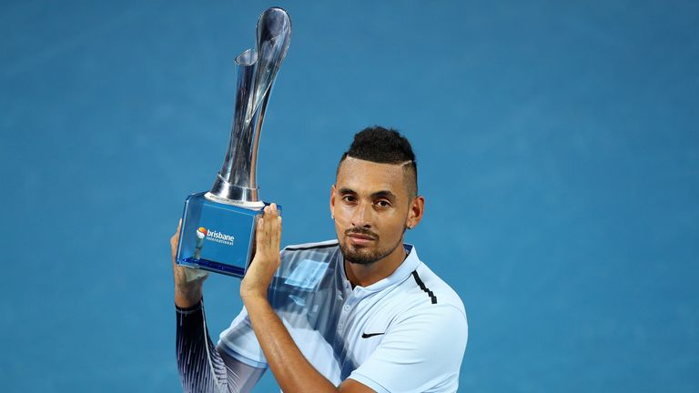 Kyrgios won the Brisbane International in the lead-up to Melbourne