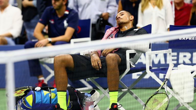 Kyrgios nearly fell asleep during a US Open defeat to Murray!