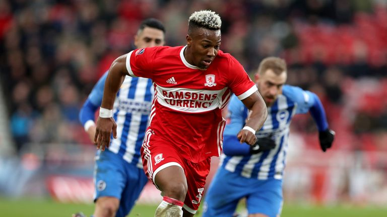 Adama Traore was close for Middlesbrough before Glenn Murray's late winner