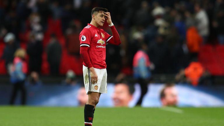 Alexis Sanchez made his Premier League debut for Manchester United