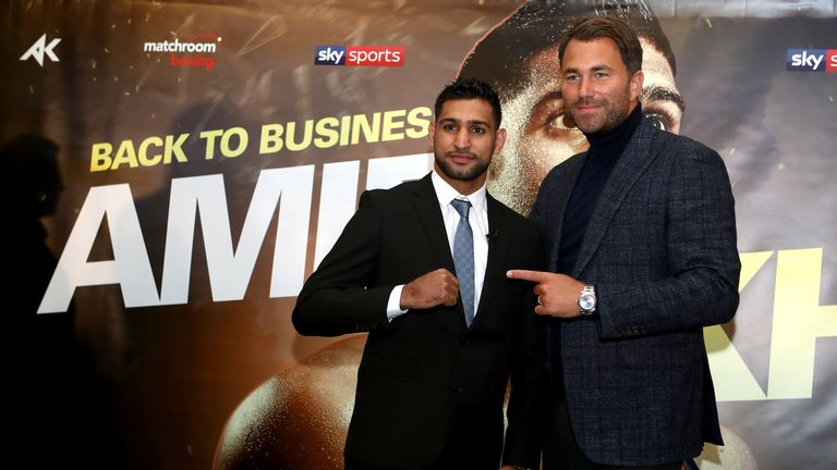Amir Khan has teamed up with Matchroom Boxing boss Eddie Hearn