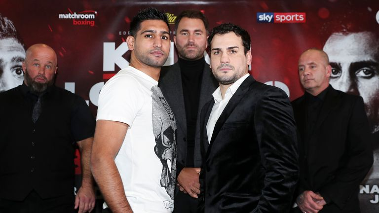 Amir Khan is preparing to fight Phil Lo Greco on April 21, live on Sky Sports