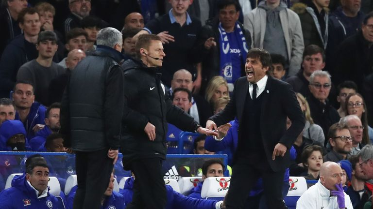 Jose Mourinho and Antonio Conte go head-to-head on Sunday