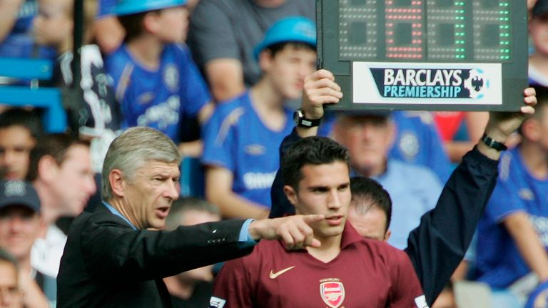Robin van Persie was signed by Arsene Wenger in 2004 and scored 132 goals for the Gunners