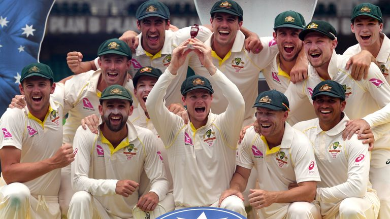 Australia beat England 4-0 in the 2017/18 Ashes series Down Under