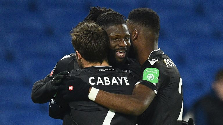 Bakary Sako blasted Palace level with a fierce shot in off the post