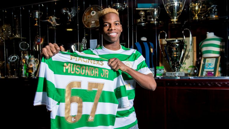 Charly Musonda is 'very happy' to have joined Scottish Premiership leaders Celtic on loan from Chelsea