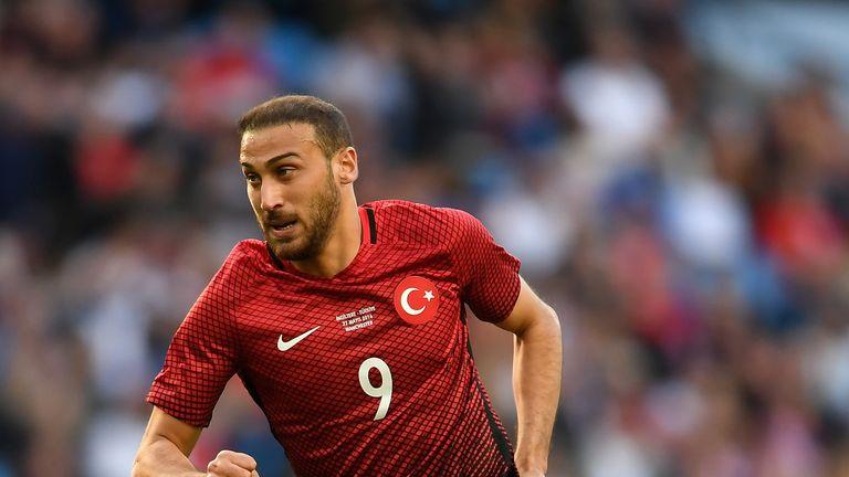 Everton striker Cenk Tosun is a Turkey international