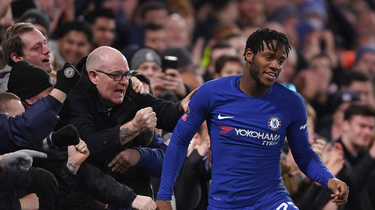 Chelsea currently have 39 players out on loan, including Michy  Batshuayi