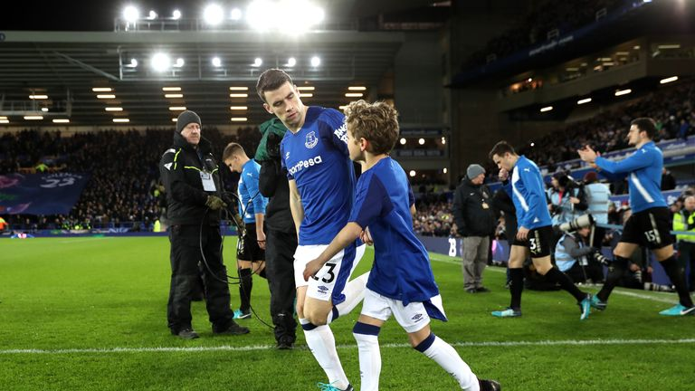 Seamus Coleman made his long-awaited return from injury at first-team level