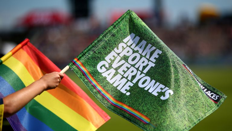 Active allies to LGBT+ people help to 'make sport everyone's game' - that's the message of Rainbow Laces