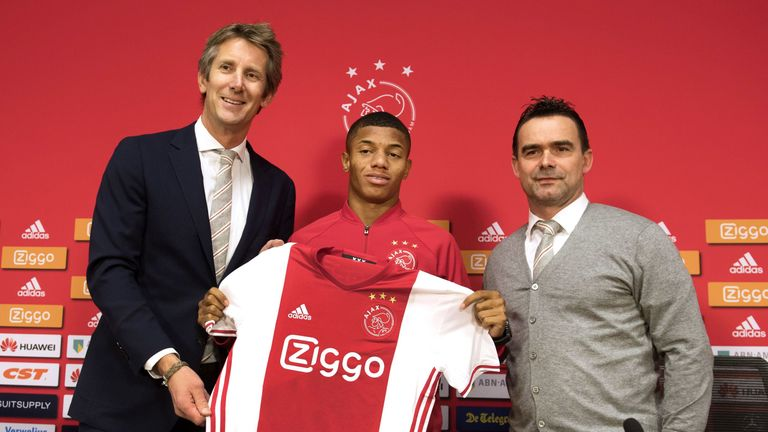 Edwin van der Sar played a role in signing David Neres along with Ajax technical director Marc Overmars