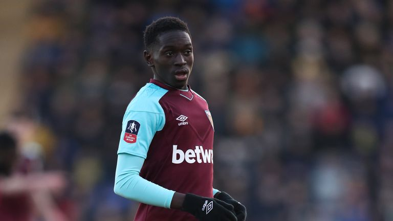 Domingos Quina has made four first-team appearances for West Ham this season