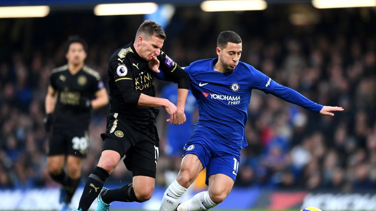 Leicester will host Chelsea in the FA Cup quarter-finals on Sunday afternoon