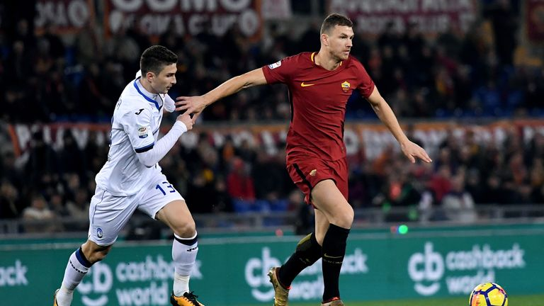 """Dzeko insisted he was happy to remain at Roma and described Rome as """"home"""""""