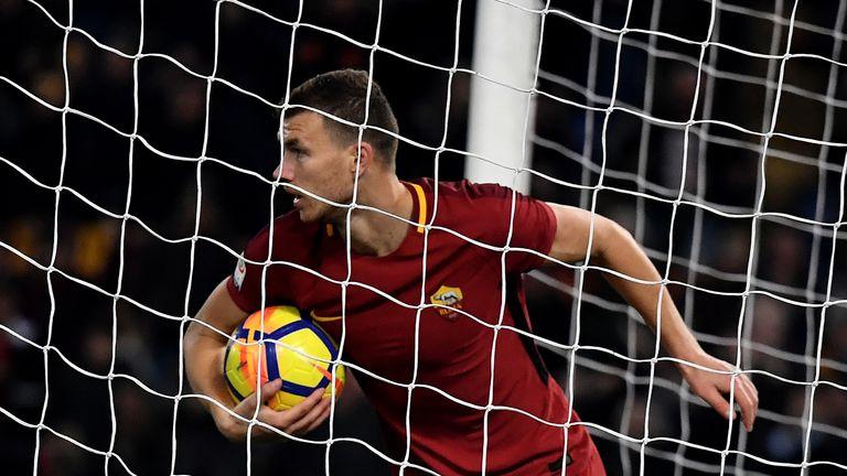 Chelsea target Edin Dzeko scored for Roma
